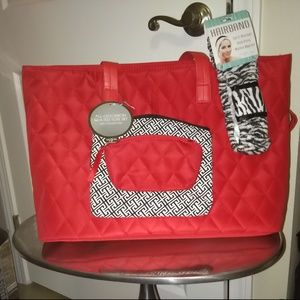 NWT 3 piece Large Tote Bag Set + Bonus Headband